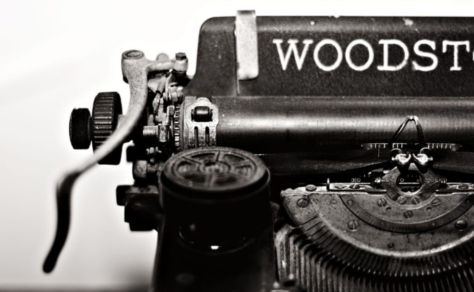 La machine à écrire de l'ancien écrivain public