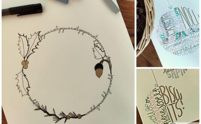 Créez des calligrammes de Noël !